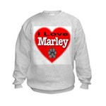 I Love Marley Kids Sweatshirt