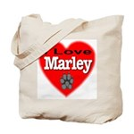 I Love Marley Tote Bag