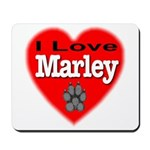 I Love Marley Mousepad