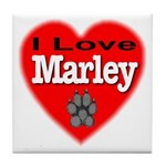 I Love Marley Tile Coaster