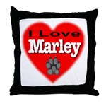I Love Marley Throw Pillow