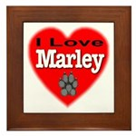 I Love Marley Framed Tile