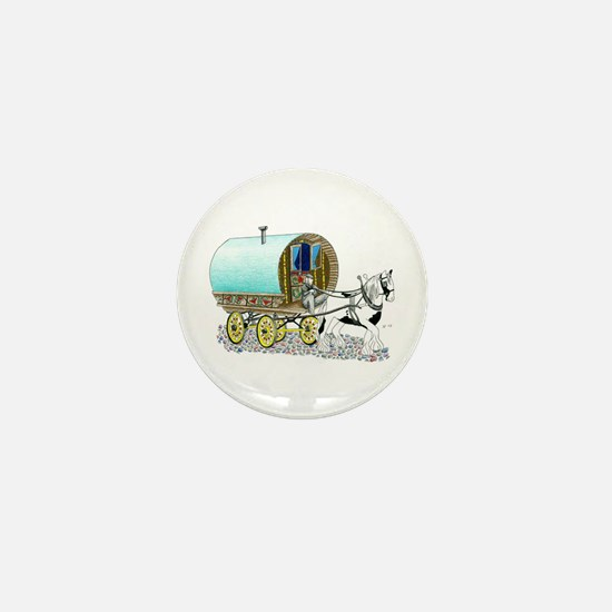 Gypsy Wagon Mini Button