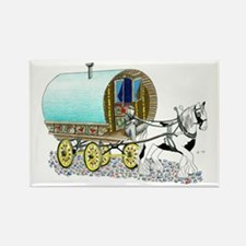 Gypsy Wagon Rectangle Magnet