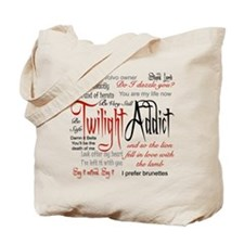 Twilight Addict Quotes Tote Bag