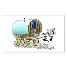 Gypsy Wagon Rectangle Decal