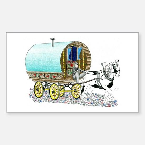 Gypsy Wagon Rectangle Decal