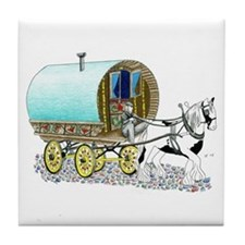 Gypsy Wagon Tile Coaster