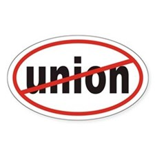 No union Euro Oval Decal