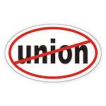 No union Euro Oval Sticker