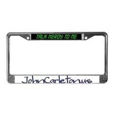 Cute Logger License Plate Frame