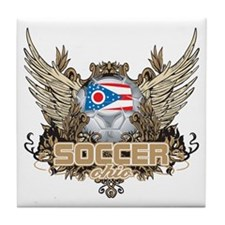 Soccer Ohio Tile Coaster
