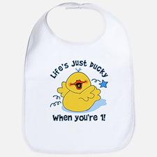 Life's Ducky 1st Birthday Bib