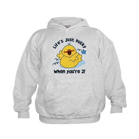 Life's Ducky 2nd Birthday Kids Hoodie