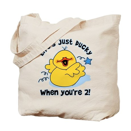 Life's Ducky 2nd Birthday Tote Bag