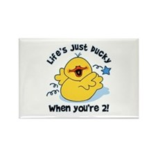 Life's Ducky 2nd Birthday Rectangle Magnet
