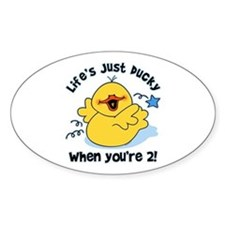 Life's Ducky 2nd Birthday Oval Decal