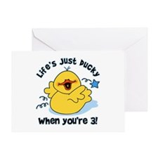Life's Ducky 3rd Birthday Greeting Card