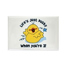 Life's Ducky 3rd Birthday Rectangle Magnet