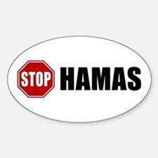 Stop Hamas Oval Decal