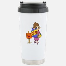 SWM Chip Lady Stainless Steel Travel Mug
