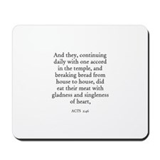 ACTS  2:46 Mousepad