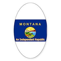 Montana-4 Oval Sticker (10 pk)