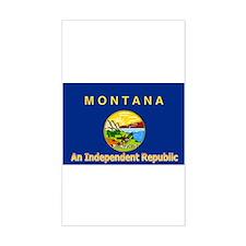 Montana-4 Rectangle Decal