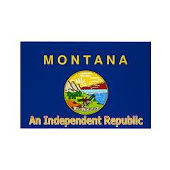 Montana-4 Rectangle Magnet (100 pack)