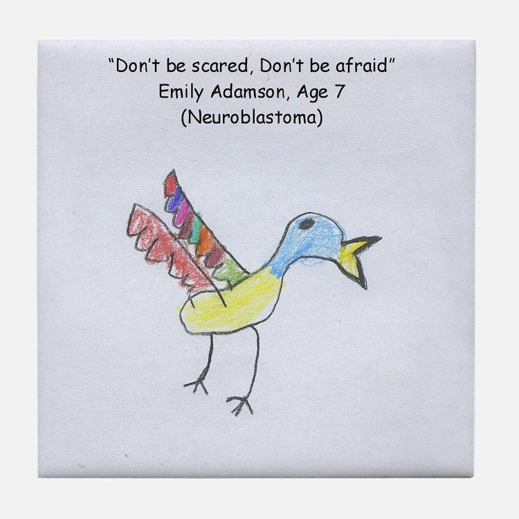Emily's Song Bird Tile Coaster