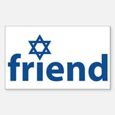 Friend of Israel Rectangle Decal