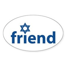 Friend of Israel Oval Decal