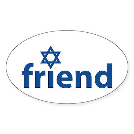Friend of Israel Oval Sticker
