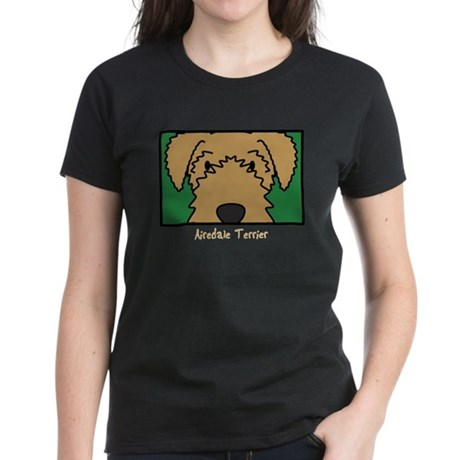 Anime Airedale Terrier Women's Dark T-Shirt