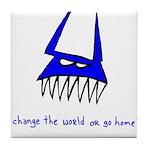 Blue Monster Tile Coaster