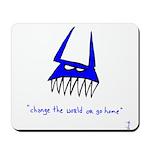 Blue Monster Mousepad