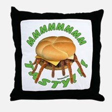 Spider Burger Throw Pillow