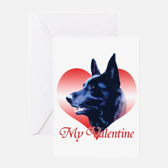 Black Shep Valentine Greeting Card
