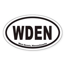 West Dennis WDEN Euro Oval Decal