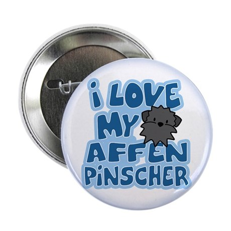 "I Love my Affenpinscher Button (2.25"")"