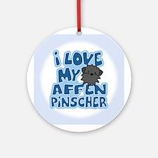 I Love my Affenpinscher Ornament (Cartoon)