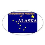 Alaska-4 Oval Sticker (50 pk)