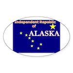 Alaska-4 Oval Sticker