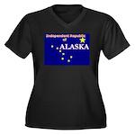 Alaska-4 Women's Plus Size V-Neck Dark T-Shirt