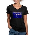 Alaska-4 Women's V-Neck Dark T-Shirt