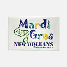Mardi Gras tri NOLA Rectangle Magnet (10 pack)