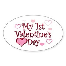 My 1st vday Oval Decal