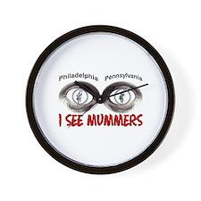 i see mummers 3 Wall Clock