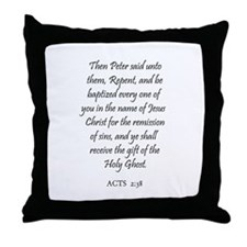 ACTS  2:38 Throw Pillow