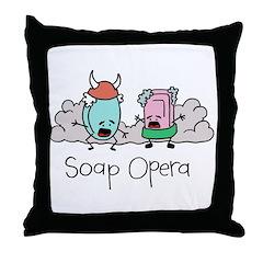 Soap Opera Throw Pillow